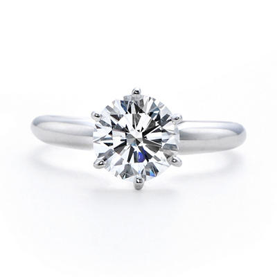 2.06 ct. Premier Diamond Collection Round Diamond Solitaire Ring in Platinum (E, SI1)