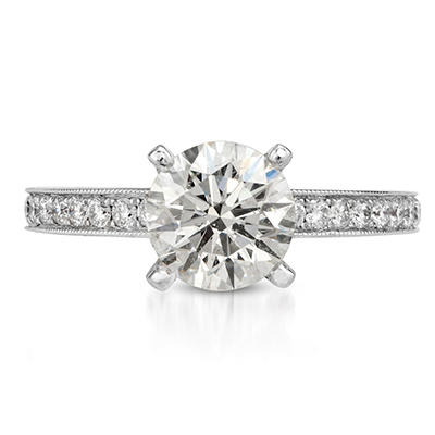 2.04 ct. t.w. Premier Diamond Collection Round and Pave' Diamond Ring in 18k White Gold (H, SI2)