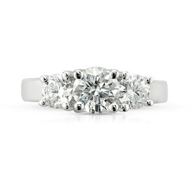 2.10 ct. t.w. Premier Diamond Collection Round 3-stone Ring 14k White Gold (F, I1)
