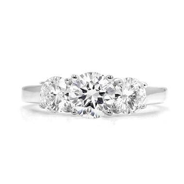 1.83 ct. t.w. Premier Diamond Collection Round 3-stone Ring in 14k White Gold (H, SI1)