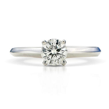 0.59 ct. Premier Diamond Collection Round Diamond Solitaire Ring in 18k White Gold (H-I, SI2-I1)