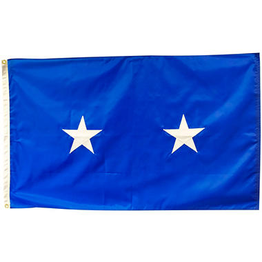 Air Force 2 Star General 3' x 5' Nylon Outdoor Flag