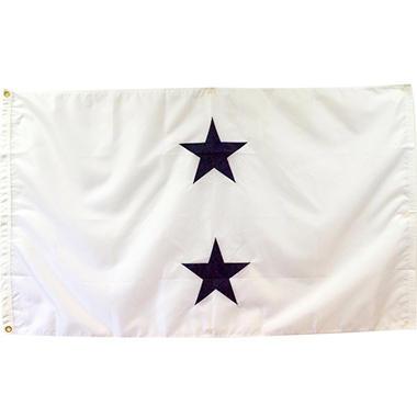 Navy 2 Star Admiral (Non-Seagoing) 3' x 5' Nylon Outdoor Flag