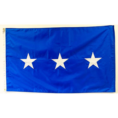 Air Force 3 Star General 3' x 5' Nylon Outdoor Flag