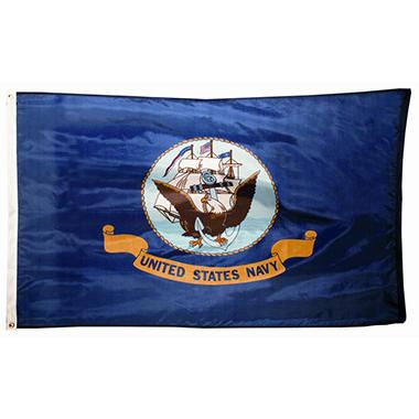 Navy 3' x 5' Nylon Outdoor Flag