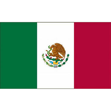 Mexico 3'X5' Nylon Flag