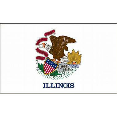 Illinois 3' x 5' Nylon Flag