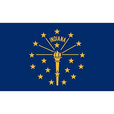 Indiana 3' x 5' Nylon Flag