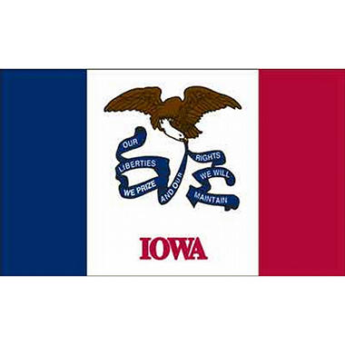 Iowa 3' x 5' Nylon Flag