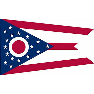 Ohio 3' x 5' Nylon Flag