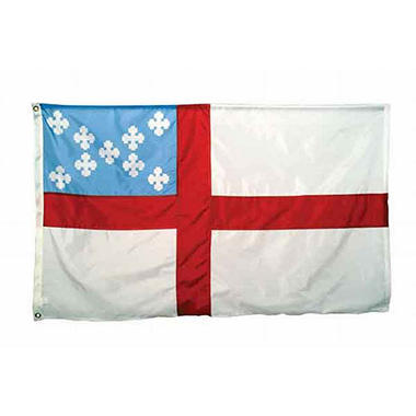 Episcopal 3'X5' Nylon Flag