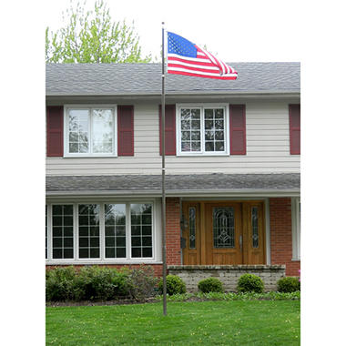 20' Telescoping Flagpole - Black