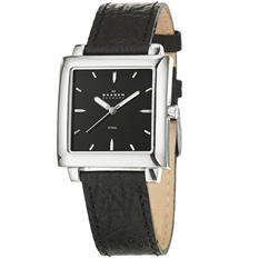 Skagen Men's Modern Stainless Steel and Leather Quartz Watch