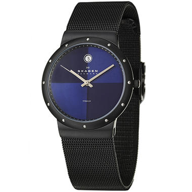 Skagen Titanium Women's Black Titanium Case and Bracelet Quartz Watch