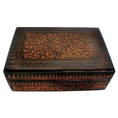 Black and Gold Lacquerware Decorative/Jewelry Box