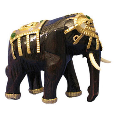 Decorative Handmade Mango Wood Elephant Carving