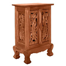 Exotic Peacocks Storage Cabinet / Nightstand