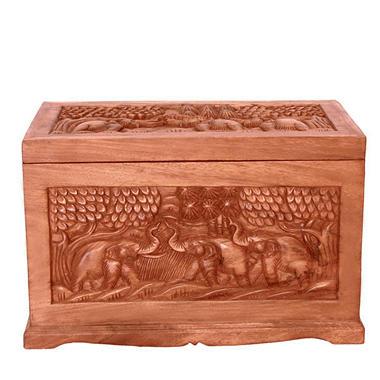 Thai Elephant Wood Storage Chest / Coffee Table.