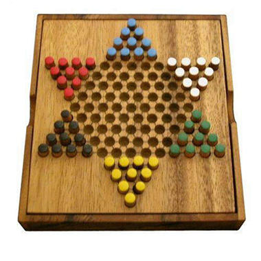 Hand-Painted Travel Size Chinese Checkers Game