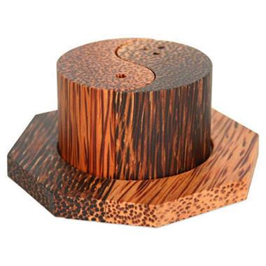 Coconut / Palm Wood Yin Yang Salt & Pepper Shakers