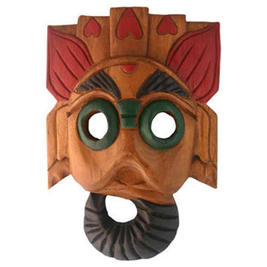 Handmade Carved Elephant Tribal Wall Art Mask