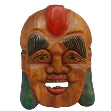 Happy Buddha Tribal Mask Wall Art Hanging