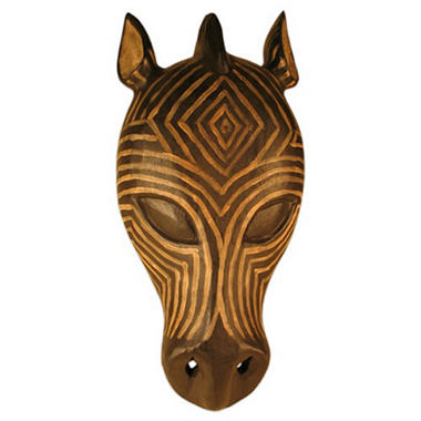 Zebra Tribal Mask Wall Art Hanging