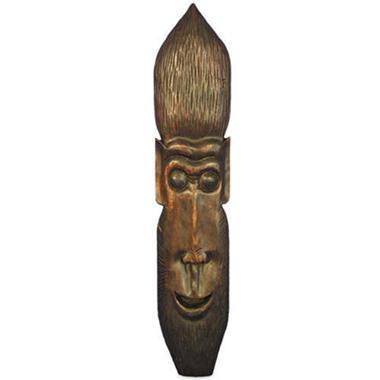 Handmade Carved Brown Monkey Tribal Mask Wall Art