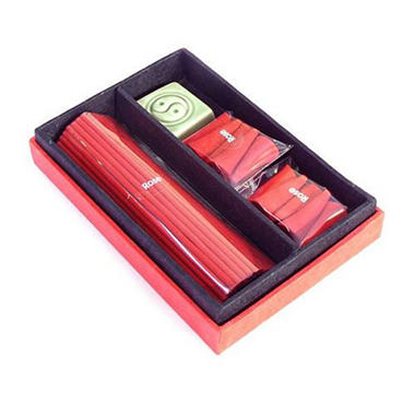Asian Yin Yang Incense & Burner Gift Box Set