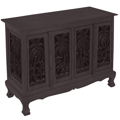 Coconut Palm Trees Cabinet / Sideboard - Dark