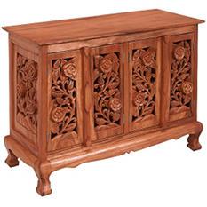 Vintage Roses Storage Cabinet/Sideboard - Natural