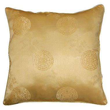 Chinese Dragons & Lotus Flower Gold Pillow Sham