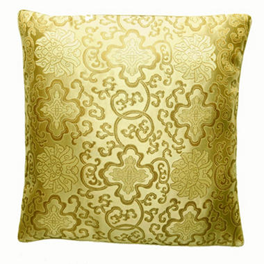 Handmade Chinese Lotus Flower Gold Pillow Sham