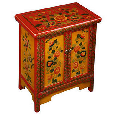 Tibetan End Table/Storage Cabinet
