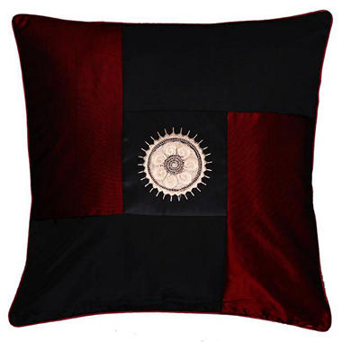 Decorative Red & Black Sunflower Pillow Sham