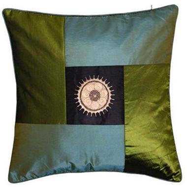 Decorative Sunflower Green & Blue Pillow Sham