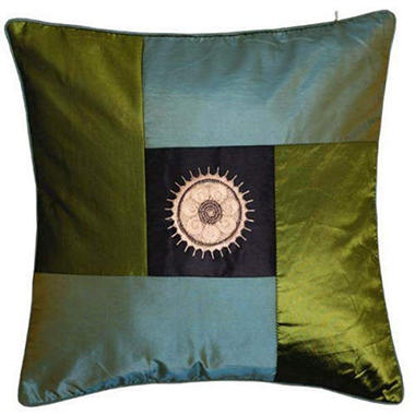 Decorative Sunflower Green & Blue Pillow Sham