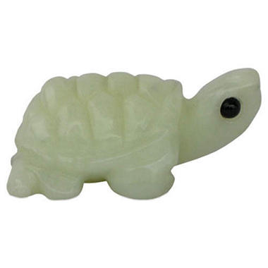 Handmade Green Jade Turtle Figurine / Carving