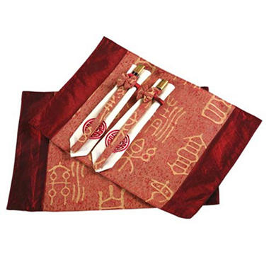 Asian Placemats, Napkins and Chopsticks - 2 pk.
