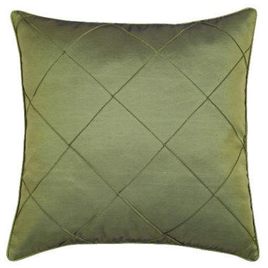 Decorative Olive Green Diamond Design Pillow Sham
