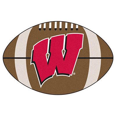 """NCAA Wisconsin Football Rug - 22"""" x 35"""""""