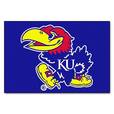 """NCAA Kansas Starter Rug - 19"""" x 30"""""""