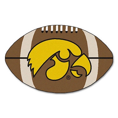 "NCAA Iowa Football Rug - 22"" x 35"""