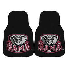 "NCAA Alabama 2-Piece Carpeted Car Mats - 18"" x 27"""