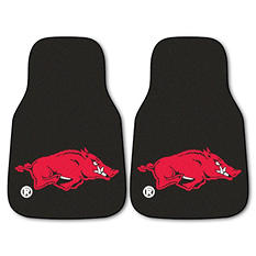 "NCAA Arkansas 2-Piece Carpeted Car Mats - 18"" x 27"""