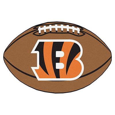 """NFL Cincinnati Bengals Football Rug 22"""" x 35"""""""