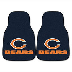 "NFL National Football League Chicago Bears 2-Piece Carpeted Car Mats - 18"" x 27"""