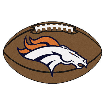 "NFL Denver Broncos Football Rug - 22"" x 35"""