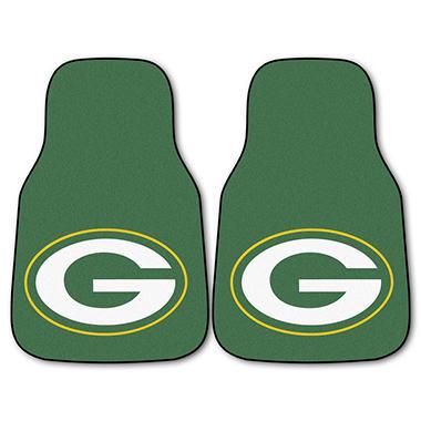 NFL - Green Bay Packers 2-pc Carpet Car Mat Set