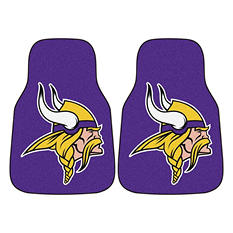 "NFL Minnesota Vikings  Carpeted Car Mats - 18"" x 27"" - 2 pc."
